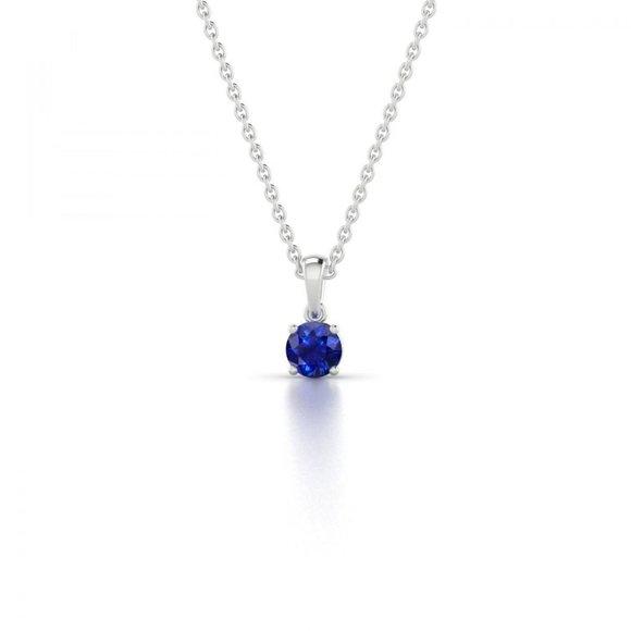 Jewelry - CEYLON SAPPHIRE pendant necklace chain 2.00 Carat